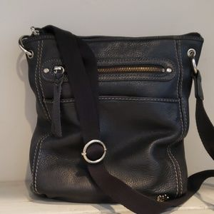 The sak black leather crossbody